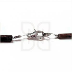 Гердан от лешниково дърво и кехлибар за деца - E04-1